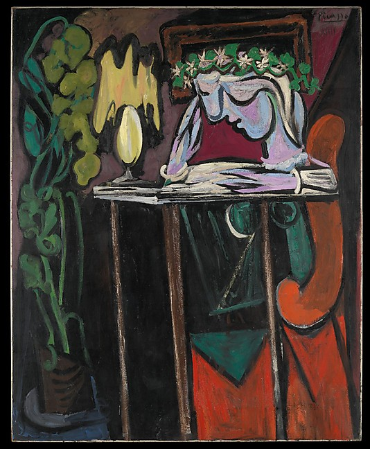 Reading at a Table - Pablo Picasso