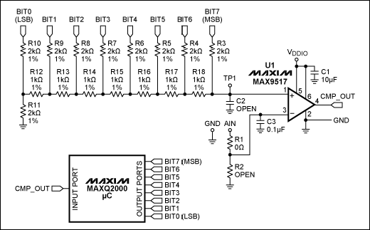 ADC With A Microcontroller, An Op Amp, And Resistors