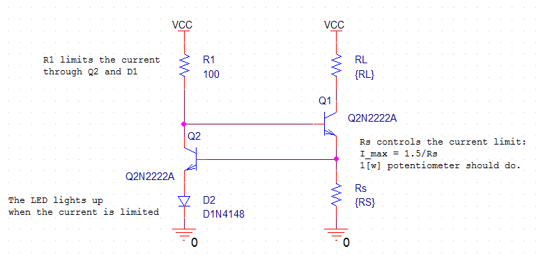 Low Power Current Limiting Circuit