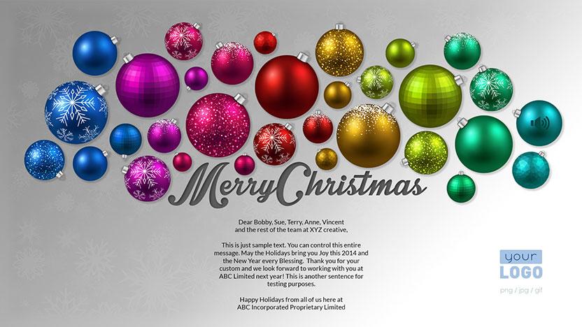 Corporate Christmas Holiday ECards 2015 Ekarda