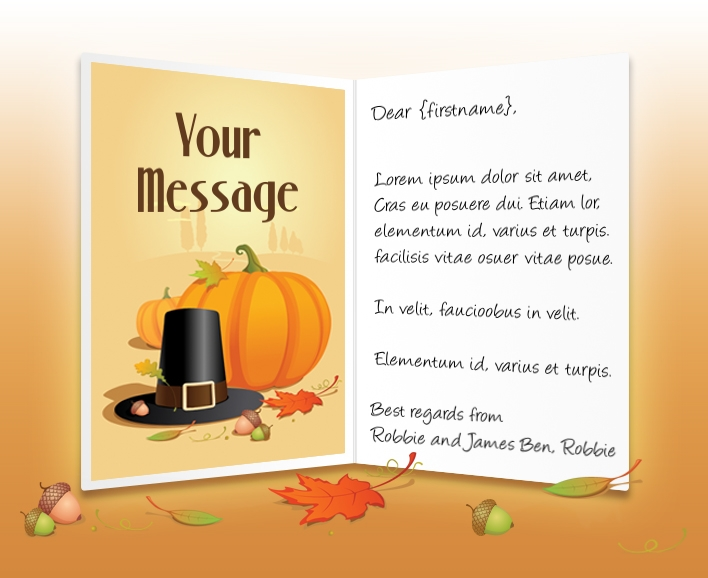 Business Thanksgiving Cards Company Greeting ECards
