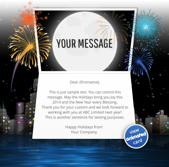 New Years eCards   ekarda Animated Webpage eCards for Business  Animated City