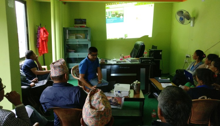 Ekendra delivering sessions on Google Maps and Local Guides for Government Officers