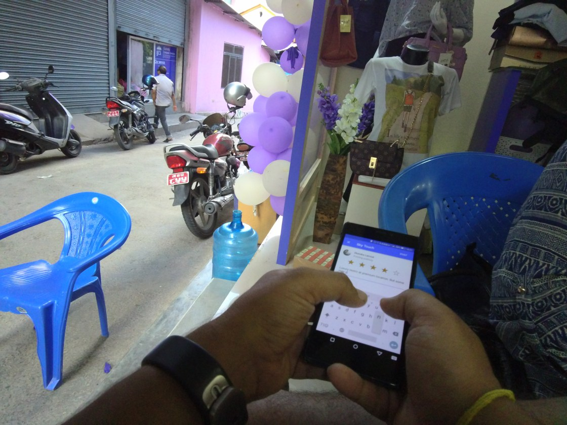 Ekendra updating Google Maps listing in-store in Pokhara