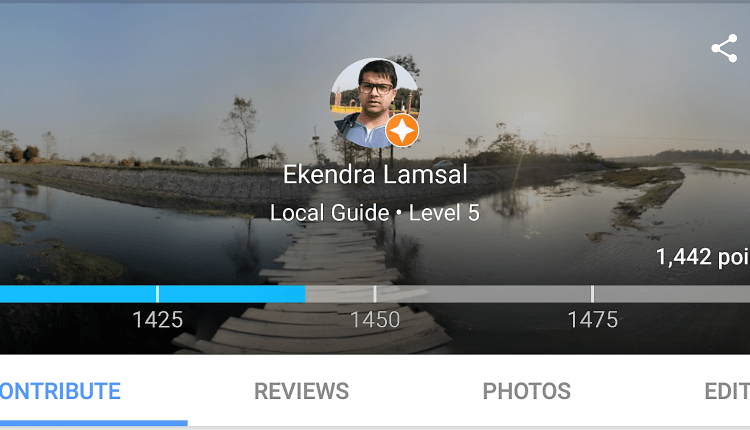 Local Guide Contribution Point of Ekendra; You're an inspiration
