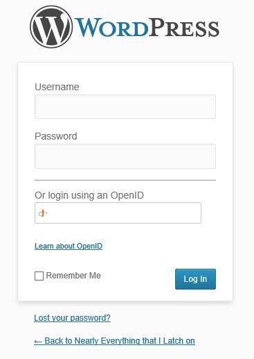 Login using OpenID in WordPress login admin screen