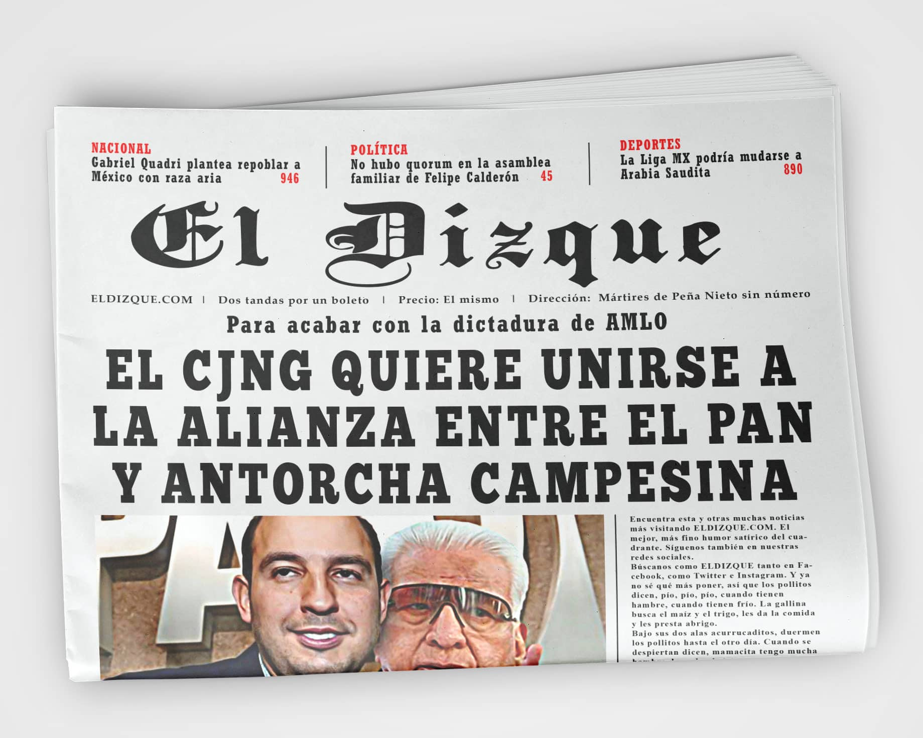 El CJNG quiere unirse a la alianza del PAN y Antorcha Campesina