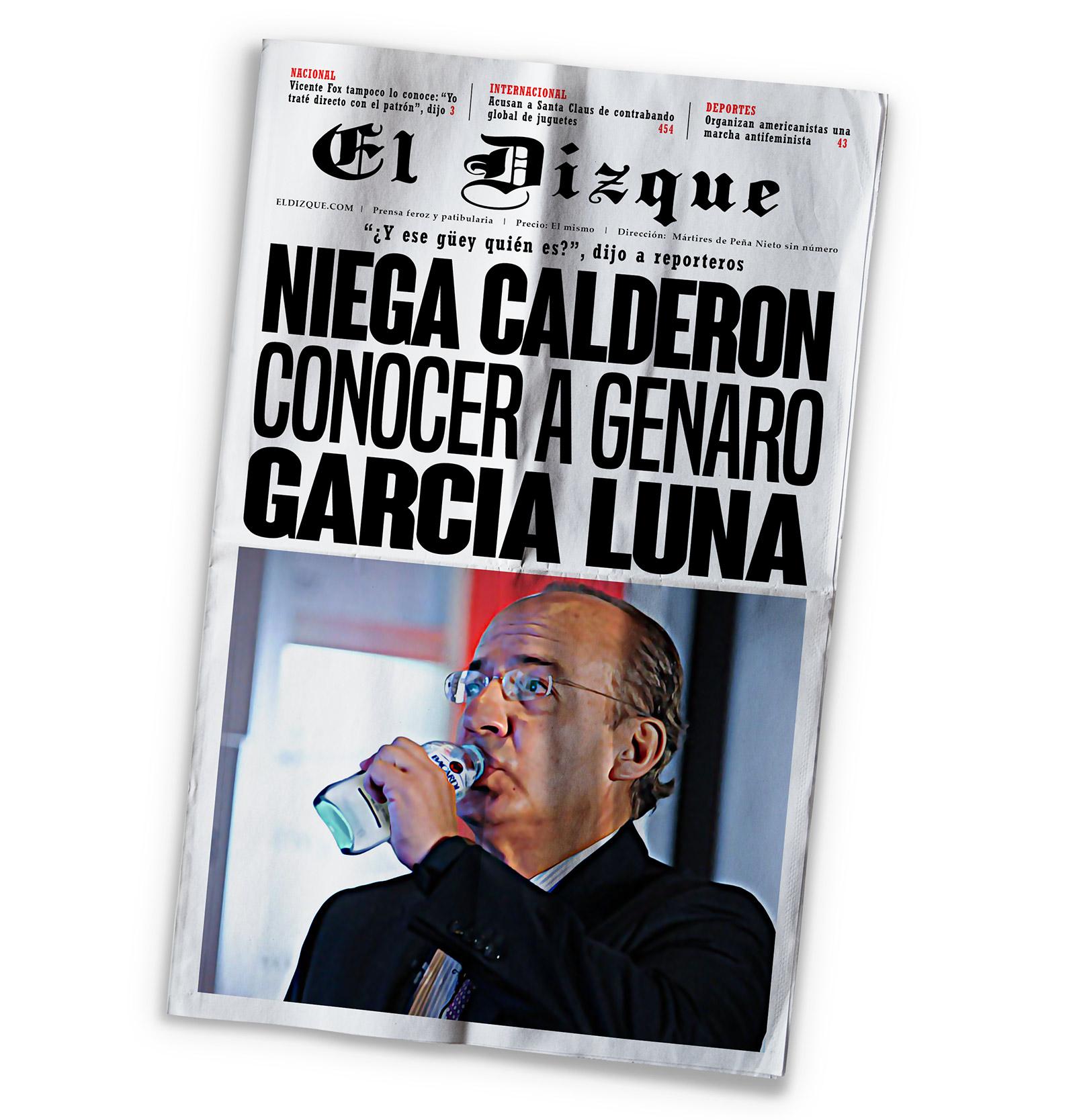 Niega Felipe Calderón conocer a Genaro García Luna