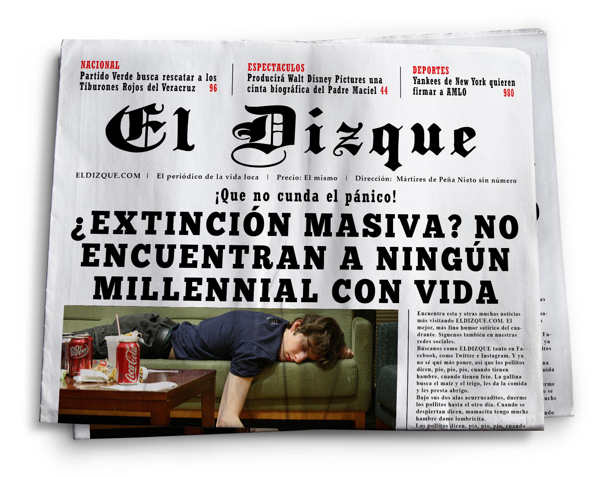 ¿Extinción masiva? No encuentran a ningún Millennial con vida