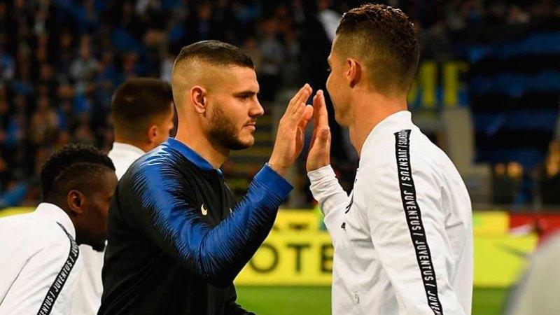 El inesperado gesto de Cristiano Ronaldo con Mauro Icardi que lo acerca a  la Juventus - ElDoce.tv