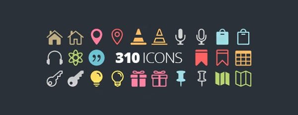 The Elegant Icon Font