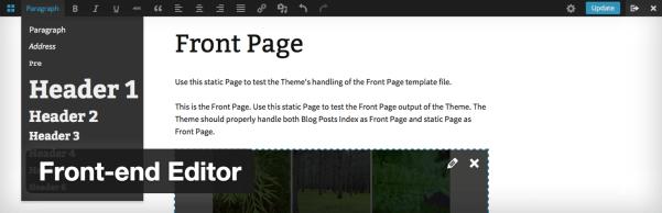 WordPress Front End Editor