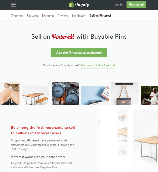 Shopify store owners can use buyable pins