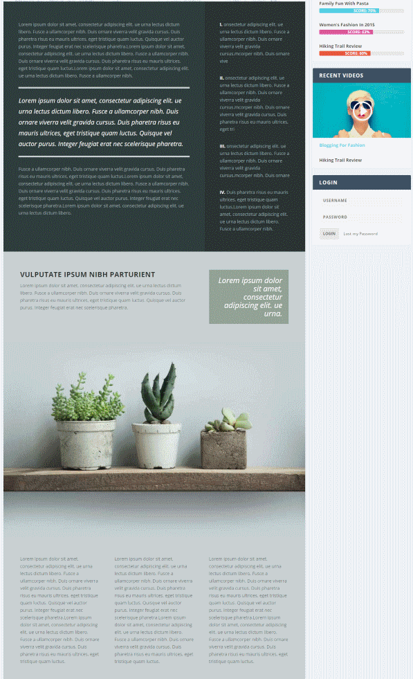 article layouts