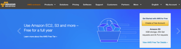 The Amazon Web Services website.