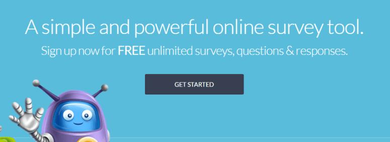 The SurveyPlanet homepage.