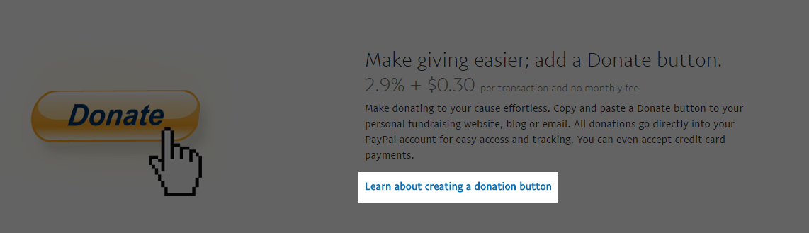 learn about creating a donation button