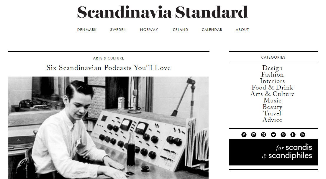 Travel Blogs - Scandinavia Standard