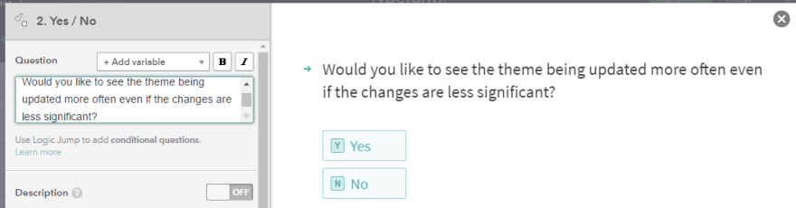 An example of a yes-no question.