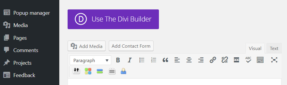 Use The Divi Builder