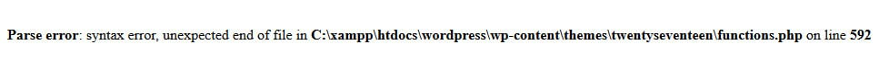 locked out of wordpress due to php parse error