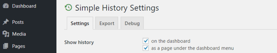 Configuring how to display your logs.