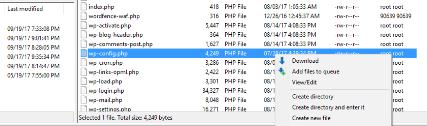 Editing your wp-config.php file.