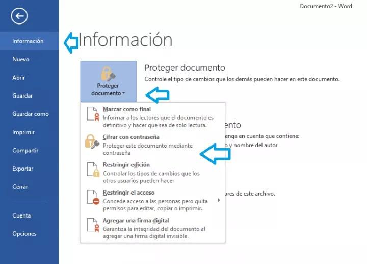 Imagen - Cómo poner contraseña a un documento en Word