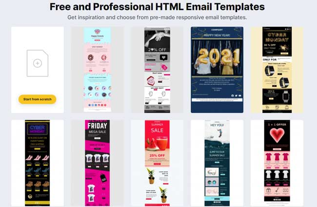Free and premium plans cu. 12 Best Free Html Email Template Builders Editors