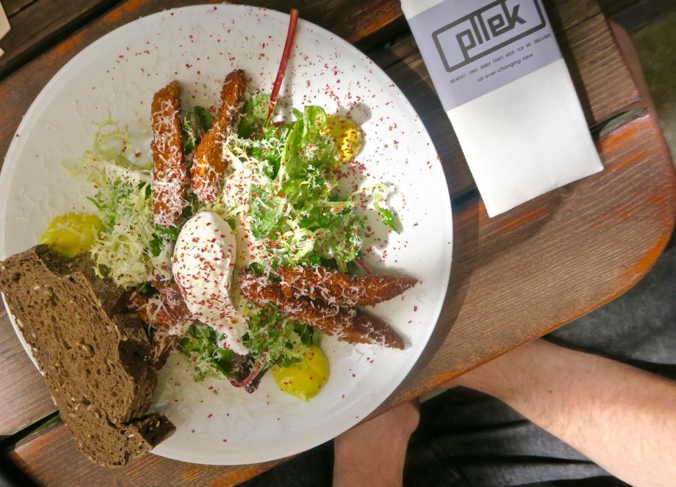 Pllek Beach Cafe, Amsterdam Noord salad