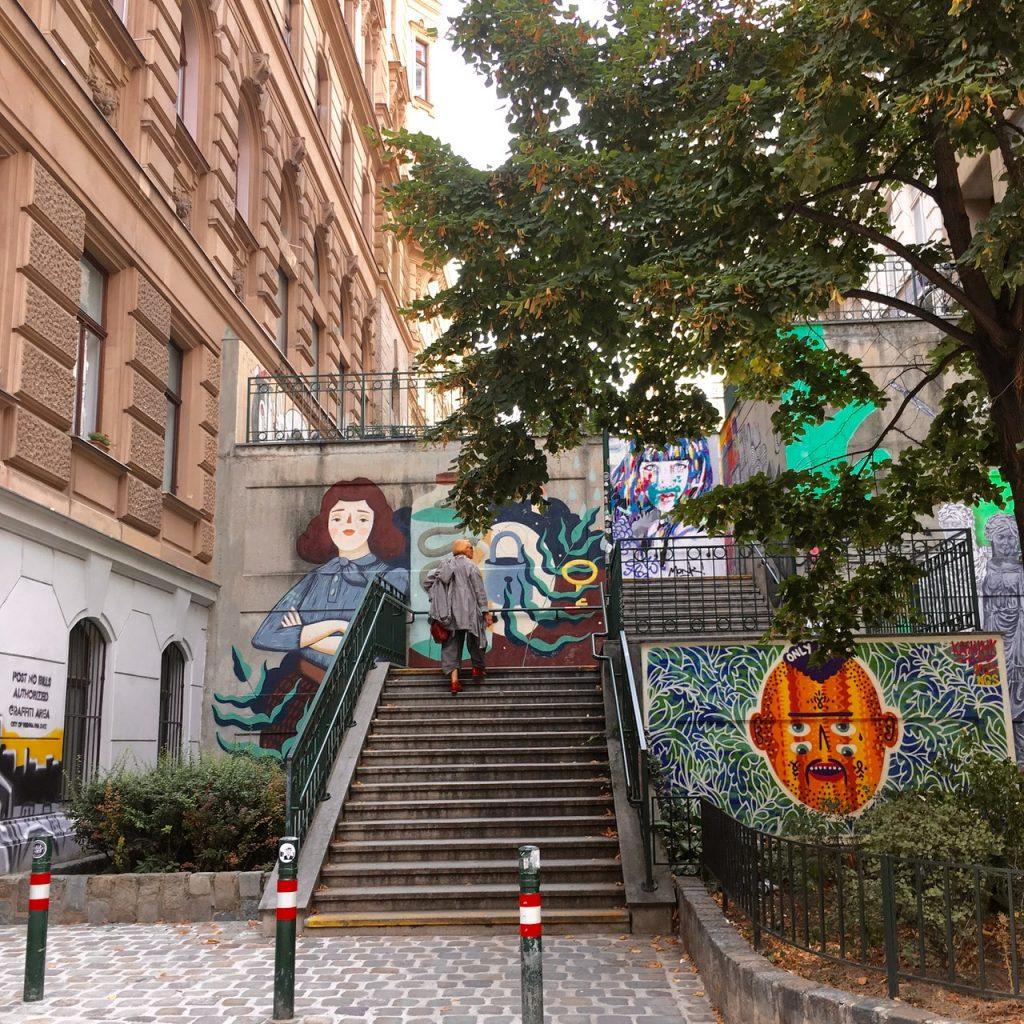 Street Art Stairs Vienna