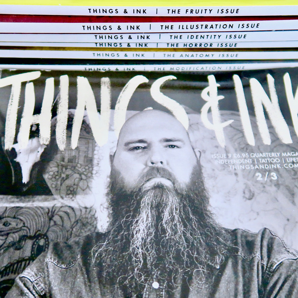 Things and Ink independent tattoo magazine spine