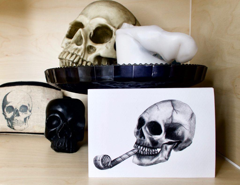 Emma Inks Designs Party Blower Skull Card