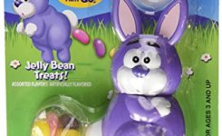 Funny Bunny Wind Up Jelly Beaning Easter Bunny Candy Dispenser Colors Vary