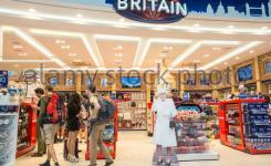 Departures Terminal Stansted Airportlondonu K  C B Funnyroyaltythe Queen Greets Tourists At Tourist Shop Outlet Glorious Britain