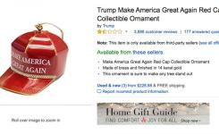 The Funniest Amazon Reviews Of All Time  Trump Make America Great Again Red Cap Collectible Ornament