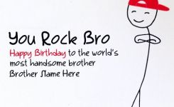 Write Name On Funny Birthday Card For Brother Happy Birthday Wishes