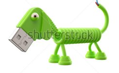 D Funny Icon Usb Connector Dog Technology Humorous Animal Usb Connection Character With