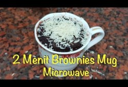 Cara Memasak Bikin Brownies 2 Menit   Mug Cake Microwave   Remake