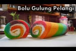 Cara Memasak Bolu Gulung Pelangi – Resep Bolu Gulung Pelangi (Rainbow Roll Cake)