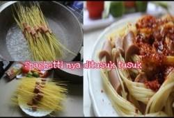 Cara Memasak Spaghetti Tusuk | Resep Kreasi spaghetti