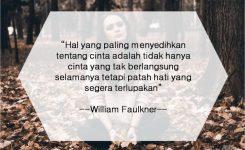 William Faulkner Hal Paling Menyedihkan