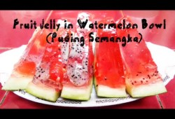 Cara Memasak #ResepRamadhan Fruit Jelly in Watermelon Bowl (Puding Semangka) | #JullsKitchen