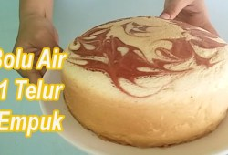 Cara Memasak Resep BOLU EKONOMIS, Resep Bolu Air 1 Telur SUPER Empuk