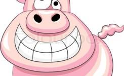 Stock Vector Of Vector Funny Cartoon Happy Pig
