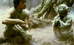 Luke Chilling With Yoda I Cant Believe It Luke That Is Why You Fail Yoda