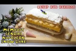 Cara Memasak RESEP KUE KEKINIAN – NAPOLEON SNOW CAKE , resep paling praktis dan gampang dibuat #35