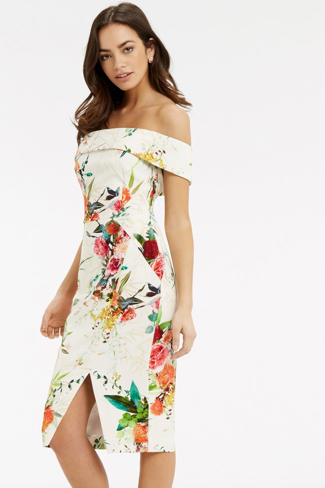 Oasis Yellow Floral Dress
