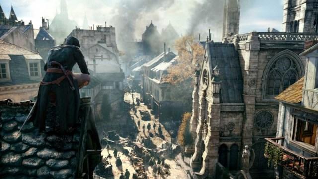 Assassin Creed Unity Arno Looking at Church