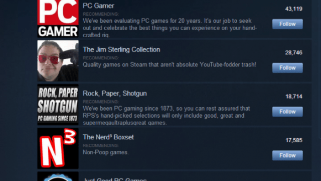 steam curators